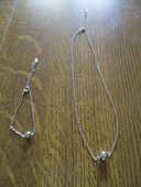 collier et bracelet avec petite boule neuf 0 Mérignies (59)