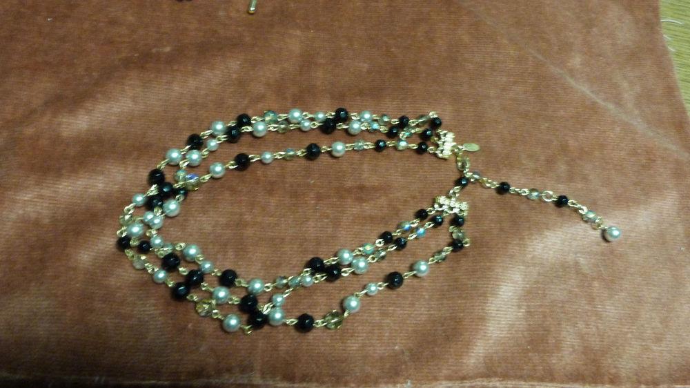 COLLIER LDADPR 3 rangs chainette /bijoux 14 Écuisses (71)