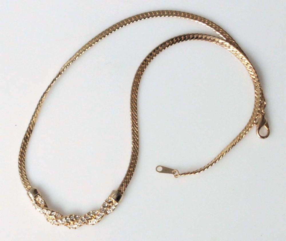 COLLIER VINTAGE BRILLANTS en PLAQUE OR BIJOU ANCIEN Bijoux et montres