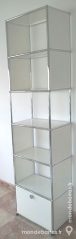 Colonne blanche usm haller 6 cases 1 tiroir bas 1295 Chenoise (77)