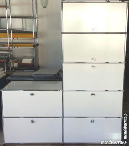 Colonne gris clair usm haller en L à 7 cases en 500mm Meubles