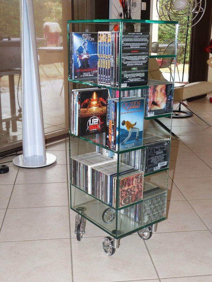 Colonne tournante range dvd cd 140 Pommiers (69)