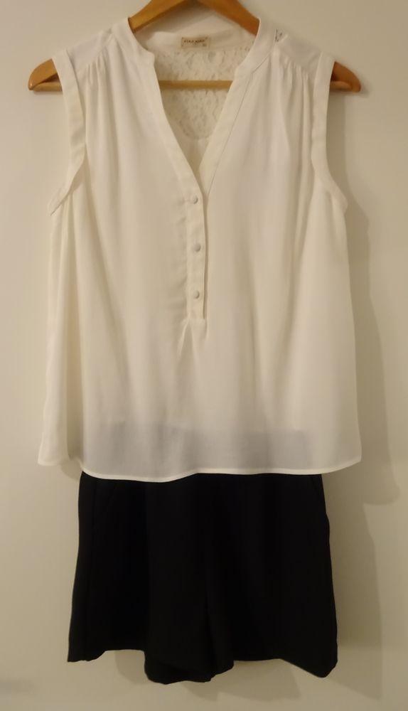 Combi-short blanc crème / noire Naf Naf T36 30 Saint-Laurent-du-Var (06)