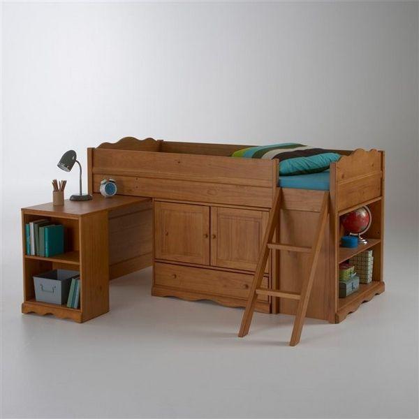 Trendy lit en bois massif style authentic de la redoute - La redoute meuble bureau ...