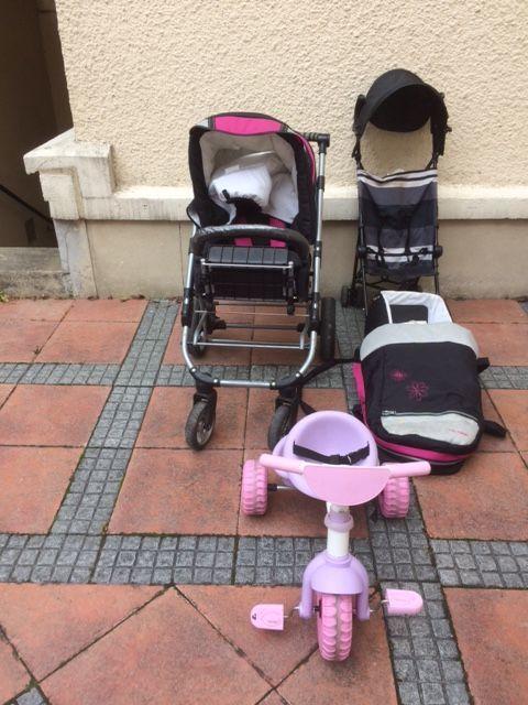 COMBINE LANDEAU POUSSETTE COUFFIN Mobilier enfants