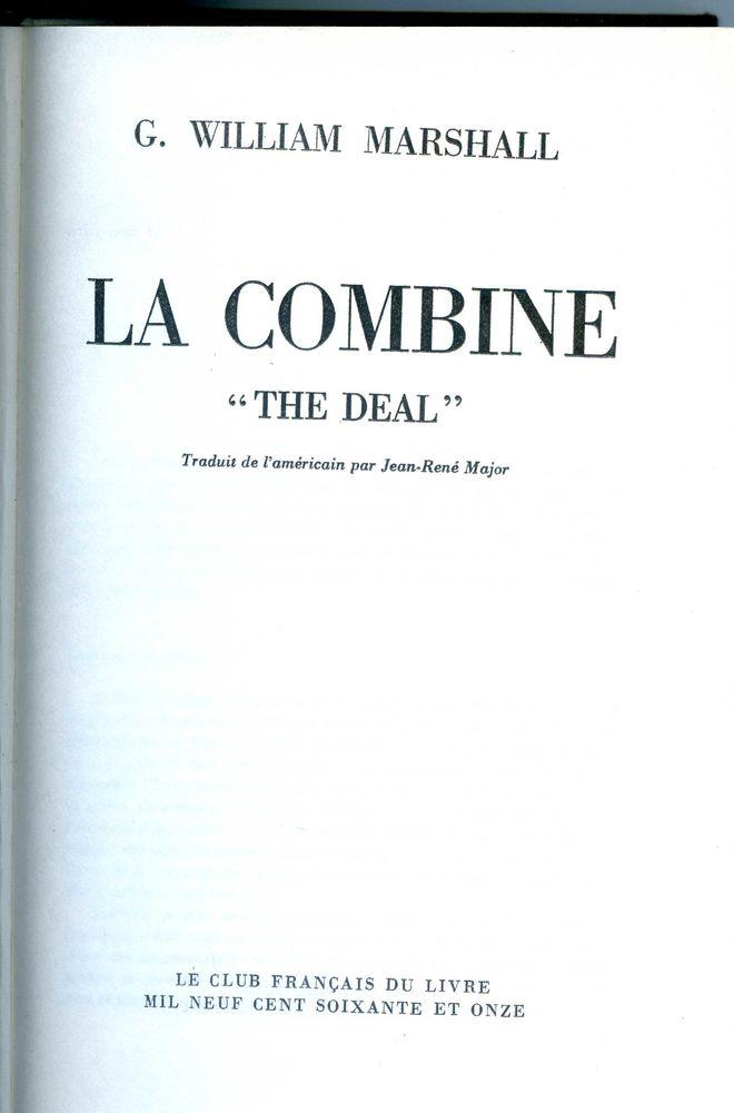 LA COMBINE - William Marshall, 5 Rennes (35)