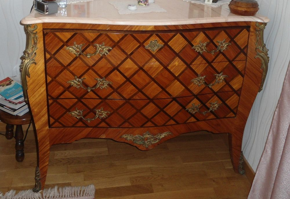 Commode ancienne en bois de rose marqueté 450 Carcassonne (11)