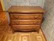Commode 3 tiroirs ton chêne foncé Meubles