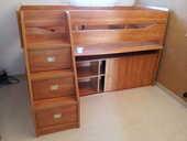 lit compact combine armoire + bureau enfant 280 Wavrin (59)