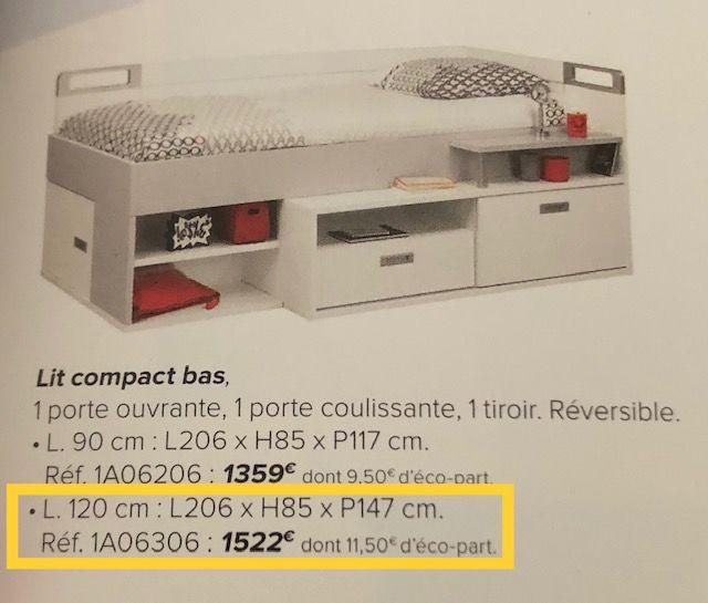 Lit Compact Ado Gauthier 120x200 390 Issy-les-Moulineaux (92)
