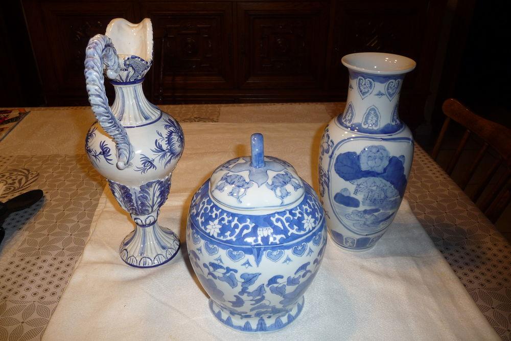 Lot composé de 3 pièces, vase, cruche, pot 140 Aubusson (23)