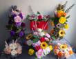 Composition en fleurs de SAVON fait main idée cadeau unique