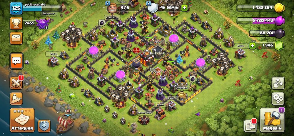 Comptes clash of clan 170 Narbonne (11)