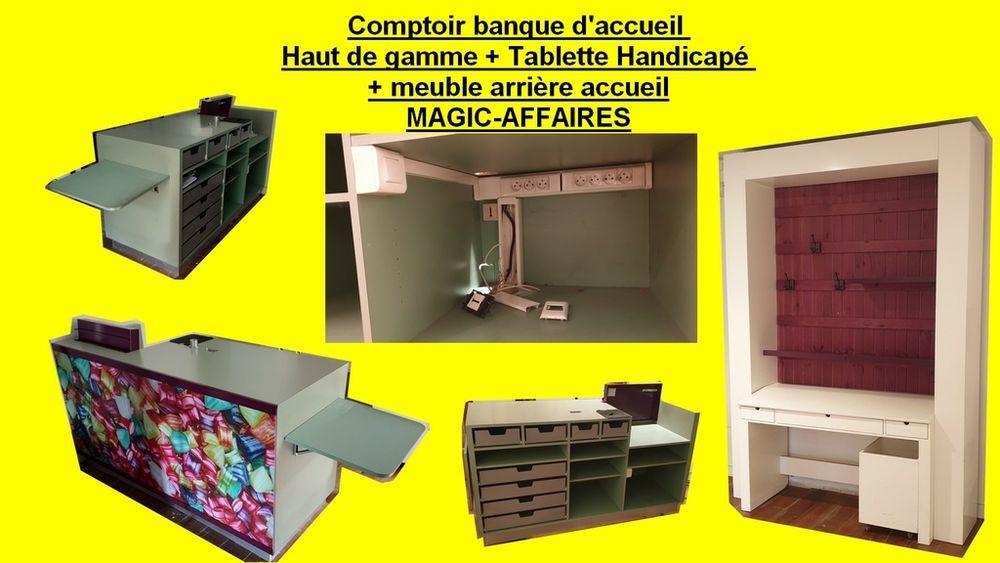 Comptoir banque d'accueil Haut de gamme + Tablette Handicapé 800 Saint-Pôtan (22)
