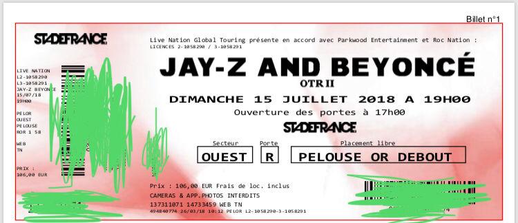 Concert Beyoncé et Jay Z: On the run tour II 125 Paris 11 (75)