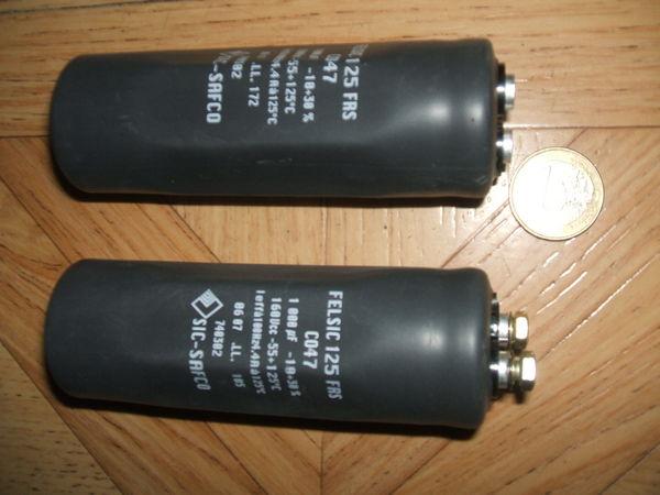 Condensateurs électrochimiques Neufs, 1000µF 160V. Bricolage