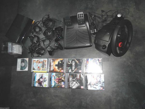 Connsole PS3 ultra slim + accesoires lot de 16 jeux Consoles et jeux vidéos