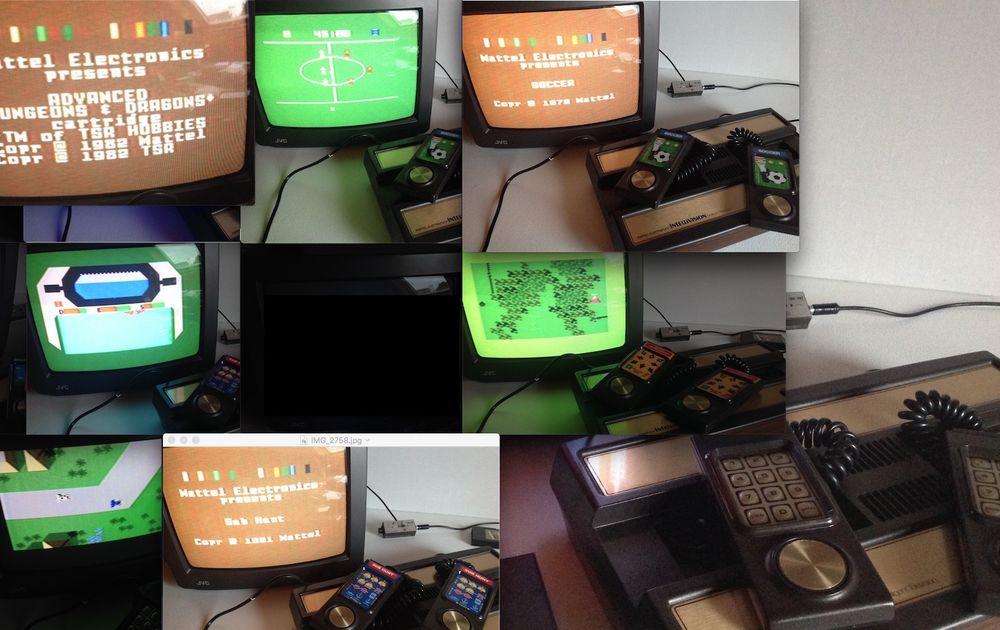 CONSOLE Mattel Intellivision + 10 Jeux Consoles et jeux vidéos