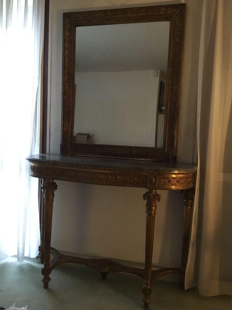 Console et miroir Louis XVI 0 Meudon (92)