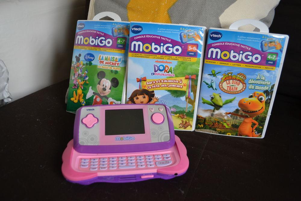 Console Tactile Mobigo v2 Vtech Rose avec 5 jeux 40 Bourgoin-Jallieu (38)