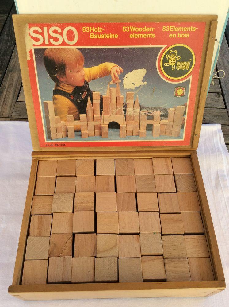 Jeu de construction bois naturel marque SISO et sa boîte 30 Gif-sur-Yvette (91)