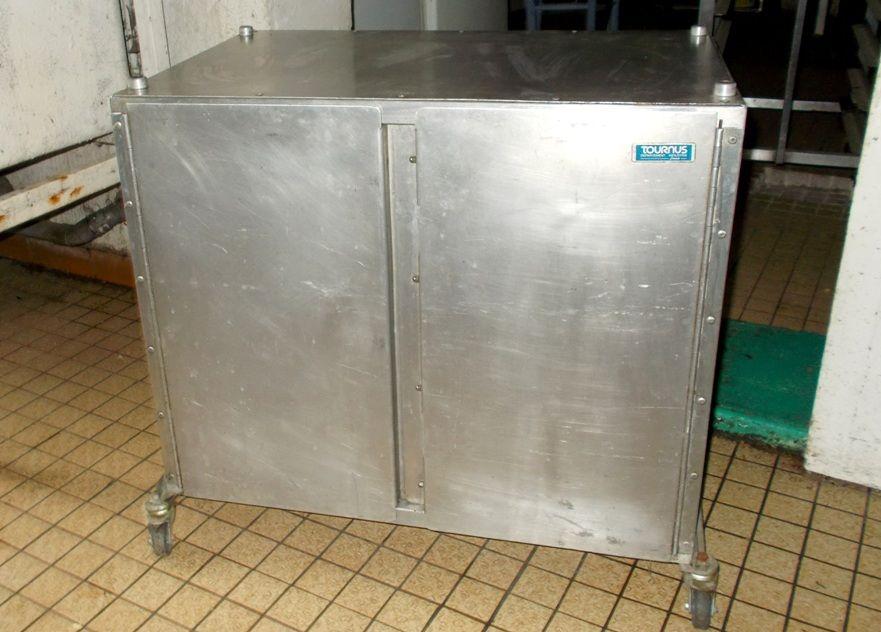 Conteneur meuble de rangement grille inox sur roulettes 300 Monflanquin (47)