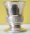 Coquetier enfant art deco métal argenté