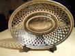 Corbeille à pain en métal argent ajouré.(poinçon)