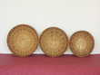 Set 3 corbeilles gigogne en rotin - Vintage
