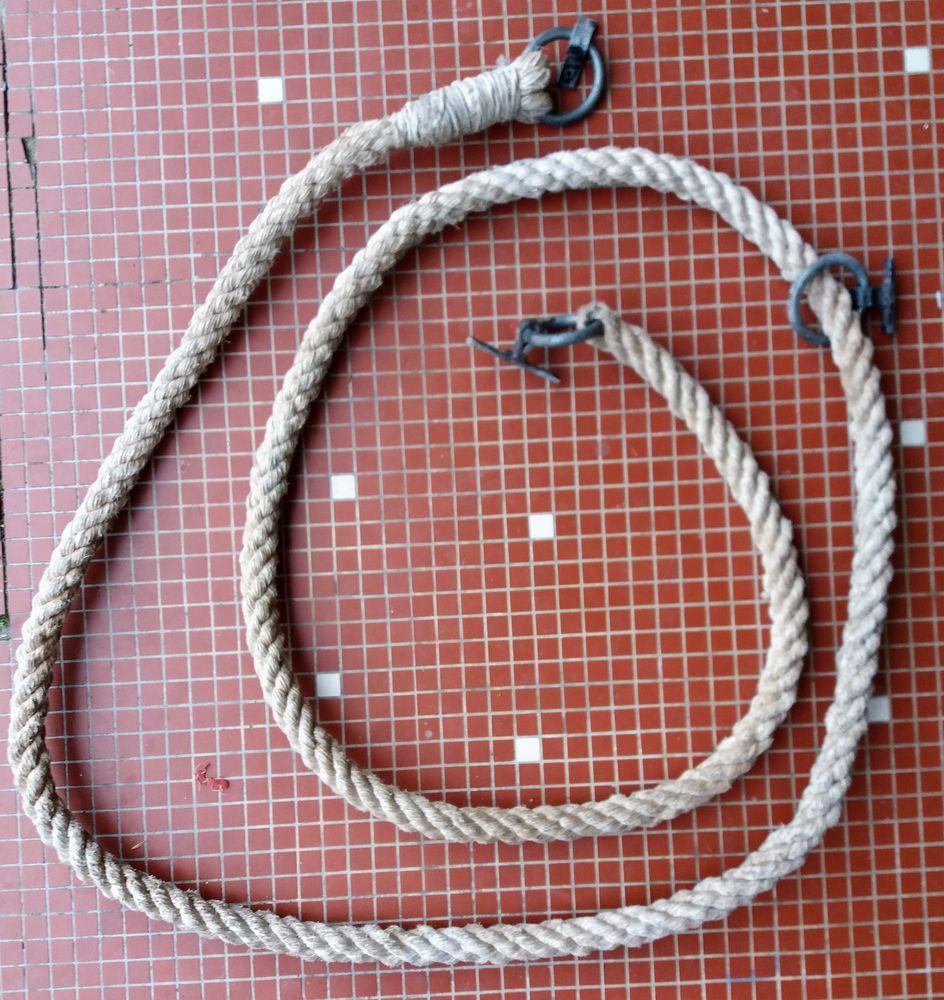 Main Courante Escalier Corde corde vintage pour rampe d'escalier avec fixations