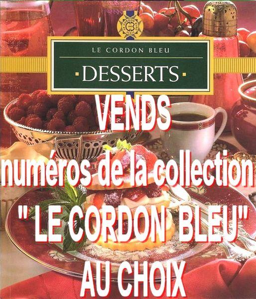 CORDON BLEU - numéro disponible / prixportcompris 12 Lille (59)
