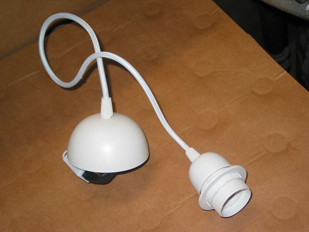 Cordon suspension BLANC lustre pendant avec cable fil electr 10 Marseille 13 (13)