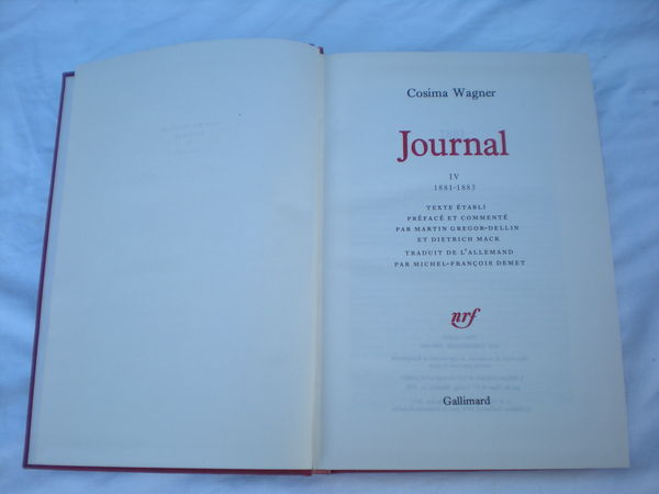 cosima wagner ( journal ) 3 Bailleau-l'Évêque (28)