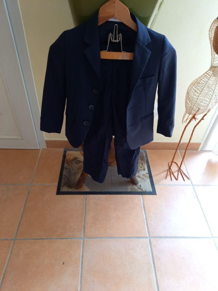 costume enfant complet bon état bleu foncé 4 ans Vêtements enfants