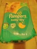 Couches Pampers Baby Dry taille 3+ et taille 4 15 Nanterre (92)
