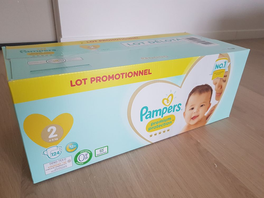 124 couches pampers premium protection taille 2 15 Saint-Sulpice (60)