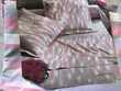 H. Couette + taie  IKAT ARGENT  Coton 140 X 200 cm