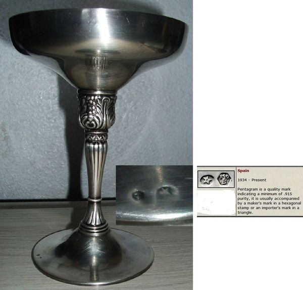 Coupe à champagne en argent 60 Antibes (06)