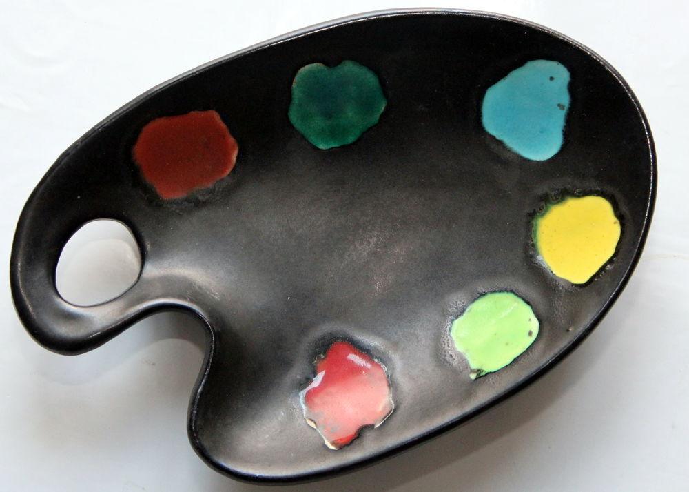 Coupe Coupelle peintre Vallauris vintage 60 céramique émaill 23 Issy-les-Moulineaux (92)