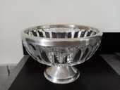 Coupe à fruits cristal et métal argenté 30 Toulouse (31)