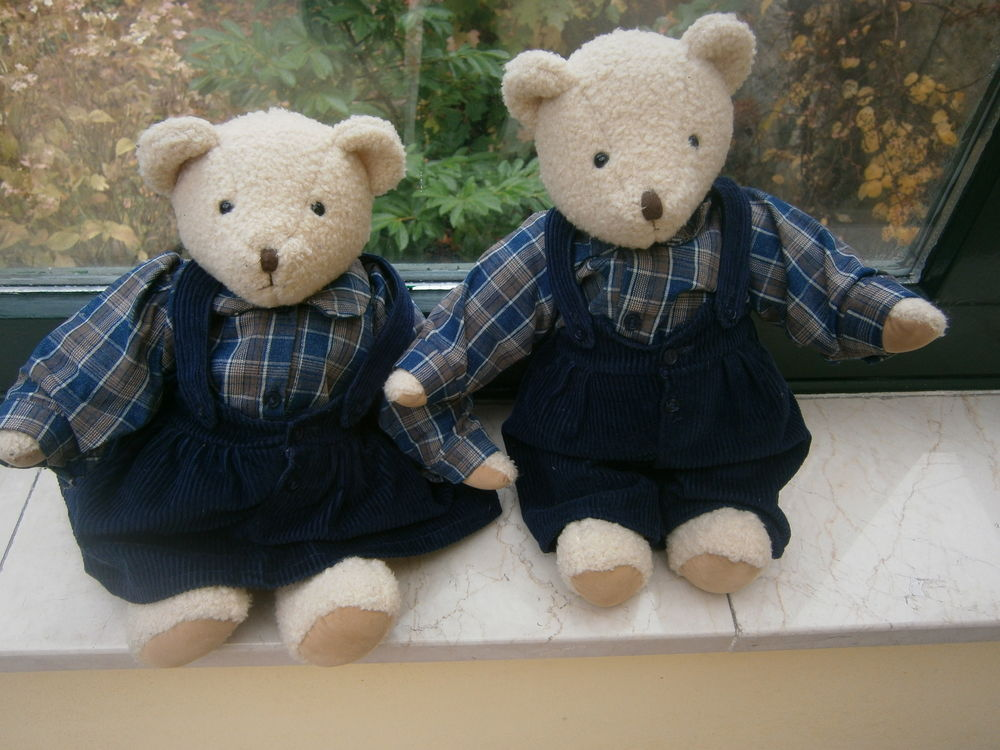 Couple ours en peluche collection  MOULIN ROTY  20 Grenoble (38)
