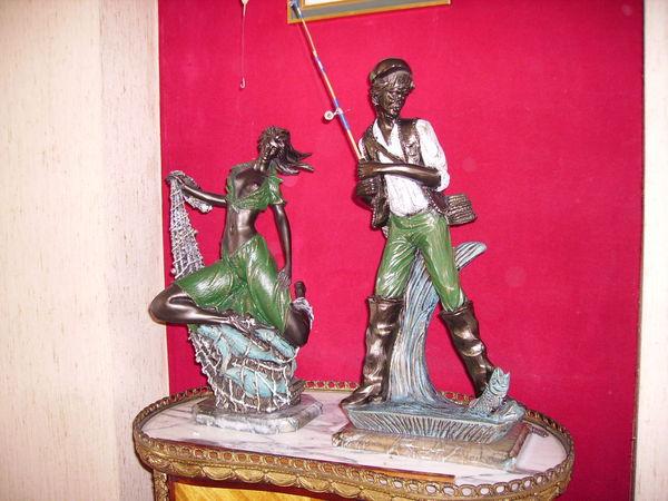 couple de pêcheurs  90 Bayonne (64)