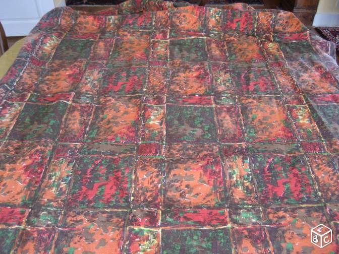 Coupon tissu vintage bandes croisées  10 Nyons (26)
