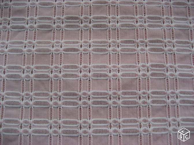 3 coupons de tissu rose vintage 1960 9 Nyons (26)