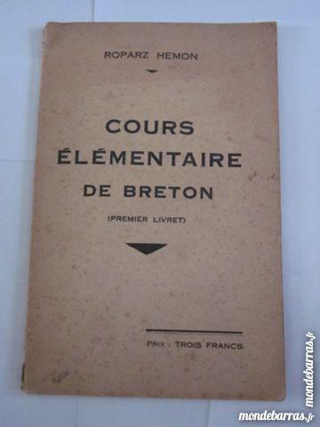 COURS ELEMENTAIRE DE BRETON par ROPARZ HEMON 193 Livres et BD