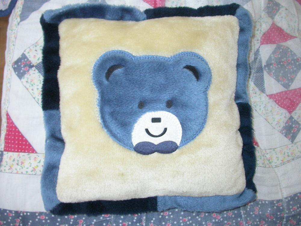 coussin ourson bleu 32 cm Jeux / jouets