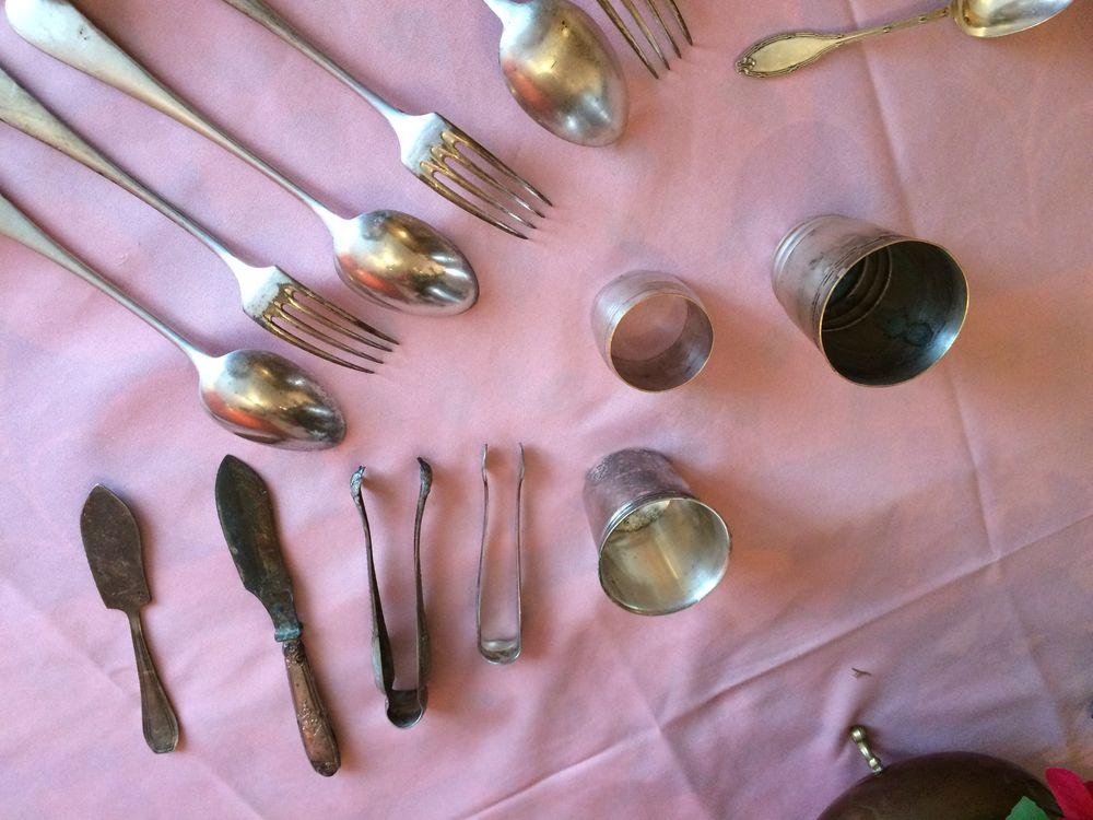 Couverts en métal argenté Décoration