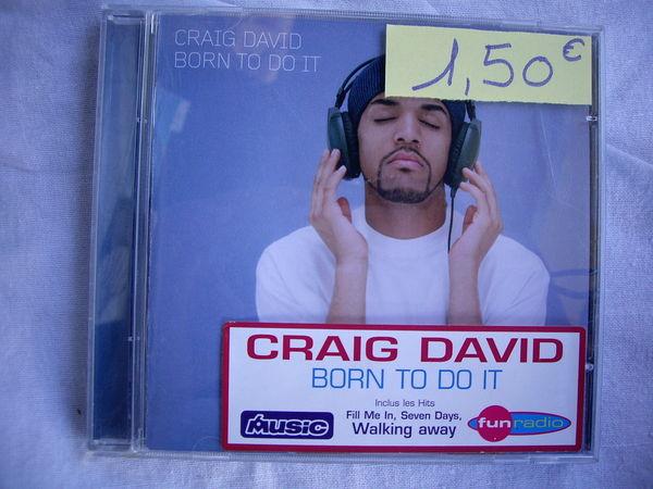 CD de Craig DAVID 1 Bouxwiller (67)