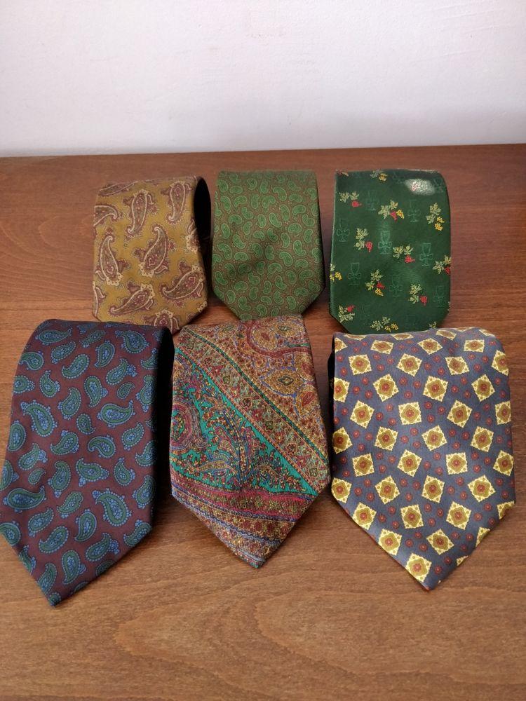 cravates vintage de marque 100% soie/silk Vêtements