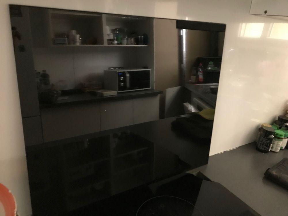 Credence cuisine inox fond de hotte aluminium alu brossé 20 Montreuil (93)